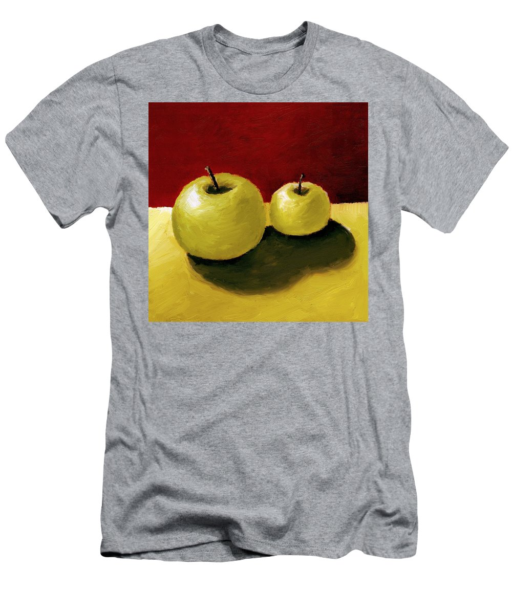 Apple Men's T-Shirt (Athletic Fit) featuring the painting Granny Smith Apples by Michelle Calkins