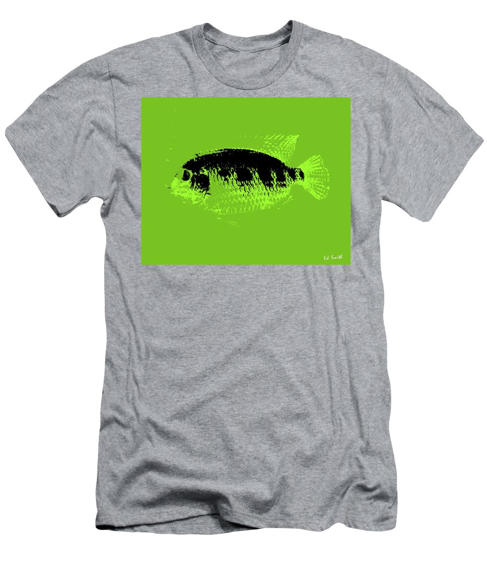 Green Fish Men's T-Shirt (Athletic Fit) featuring the photograph Green Fish by Ed Smith