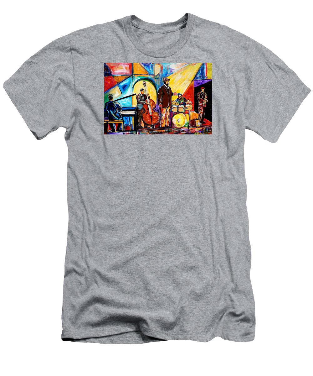 Everett Spruill T-Shirt featuring the painting Gregory Porter and Band by Everett Spruill