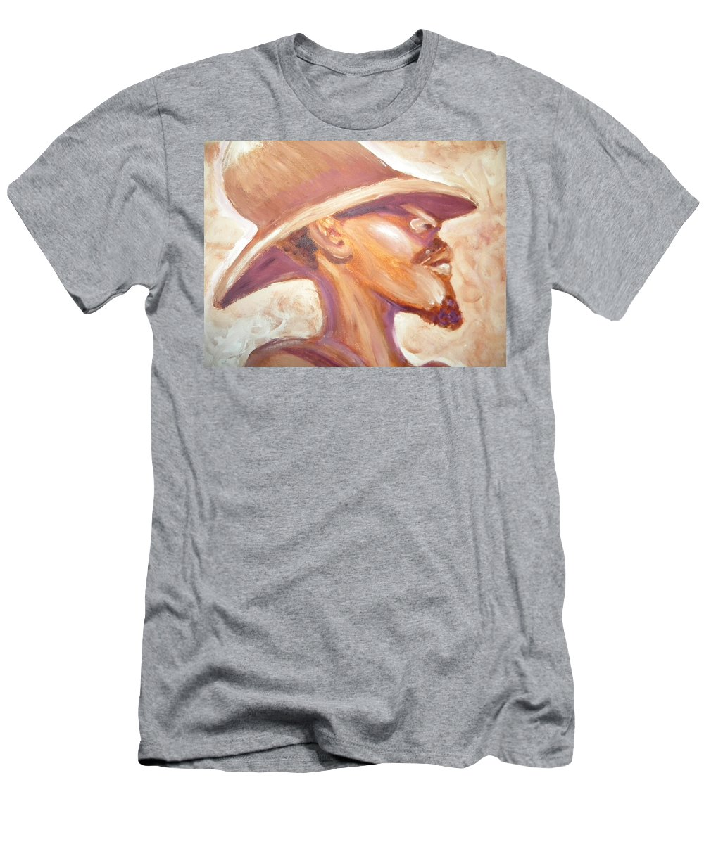 African American Men's T-Shirt (Athletic Fit) featuring the painting Groovin by Jan Gilmore