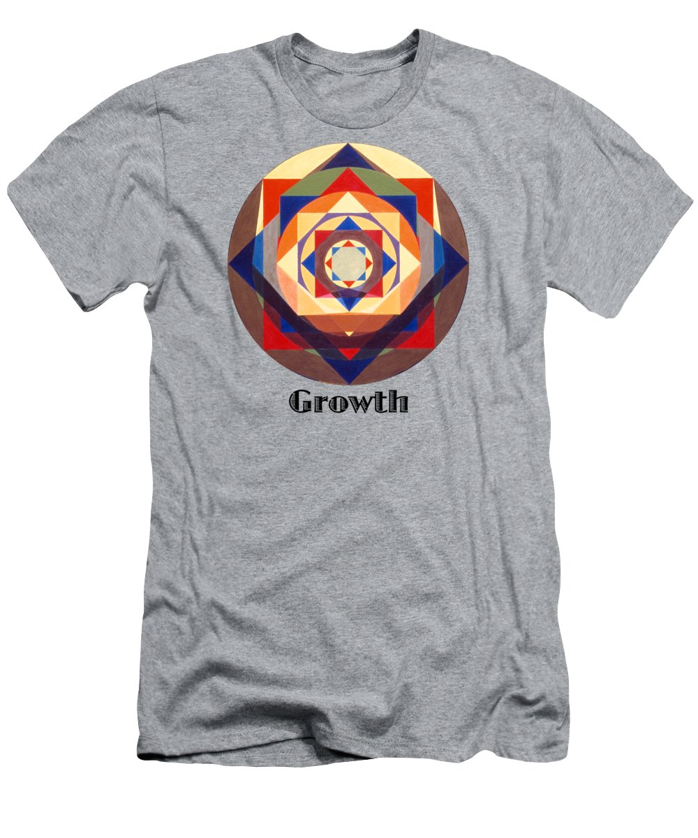 Painting T-Shirt featuring the painting Growth text by Michael Bellon