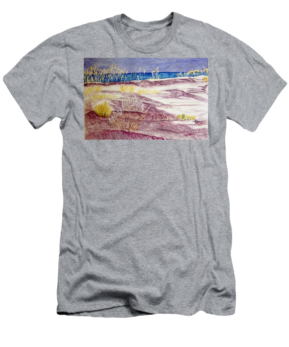 Seascape Men's T-Shirt (Athletic Fit) featuring the painting Gulf Shores Alabama by Larry Wright