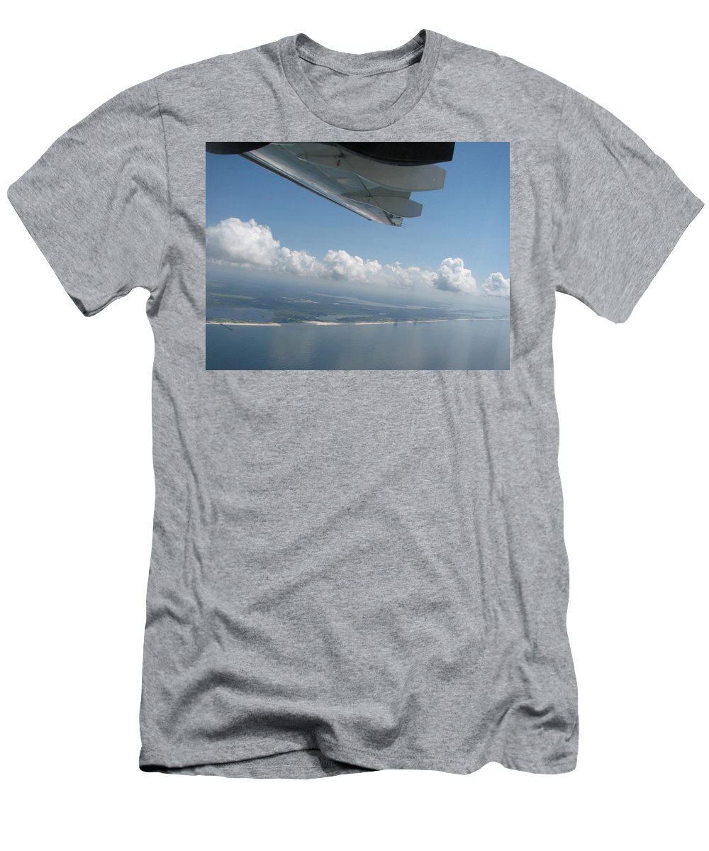 H144 Men's T-Shirt (Athletic Fit) featuring the photograph H144 And Clouds by Donna Riordan