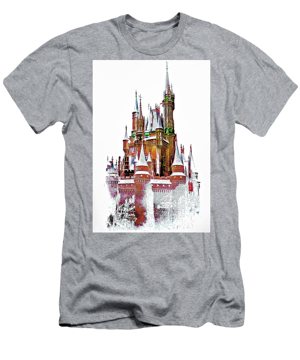 Castle Men's T-Shirt (Athletic Fit) featuring the photograph Hall Of The Snow King by Steve Harrington