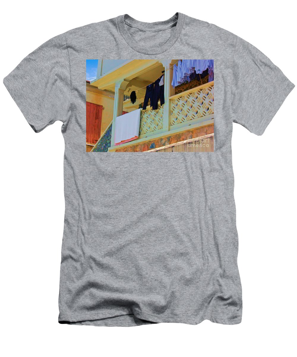 Laundry Men's T-Shirt (Athletic Fit) featuring the photograph Hang Em High by Debbi Granruth