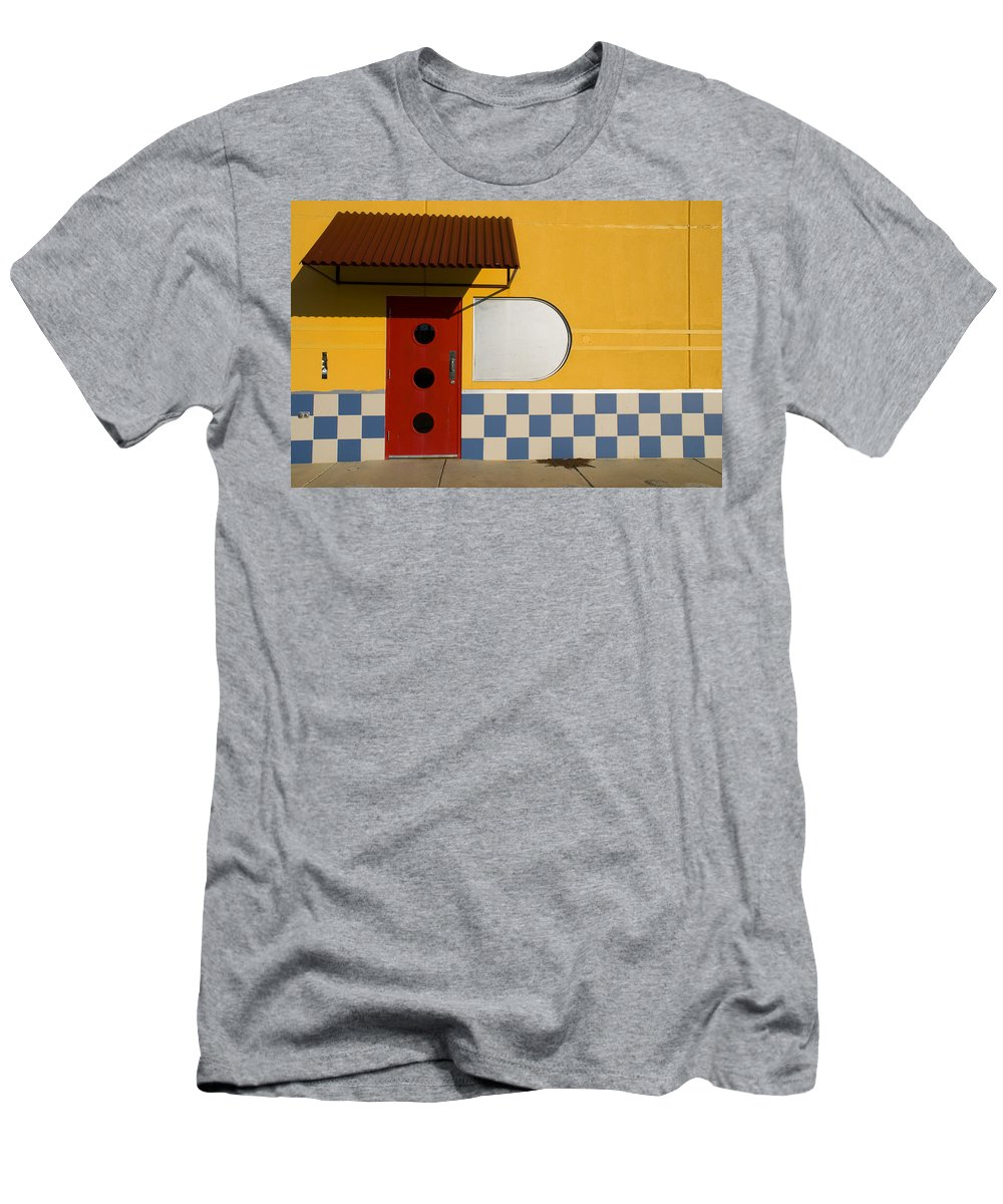 Architecture Men's T-Shirt (Athletic Fit) featuring the photograph Happy Days by Skip Hunt