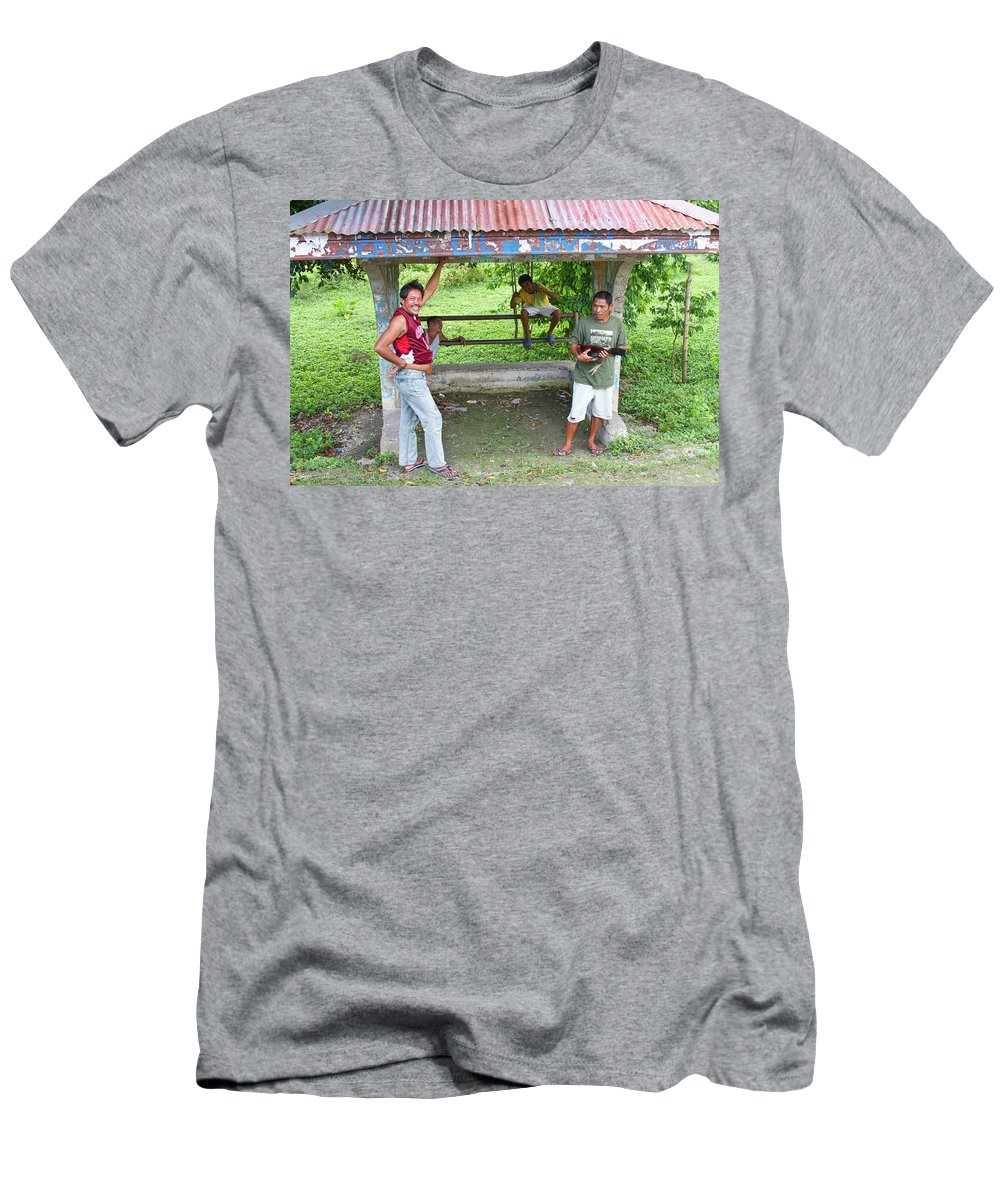 Insogna Men's T-Shirt (Athletic Fit) featuring the photograph Happy Filipinos by James BO Insogna
