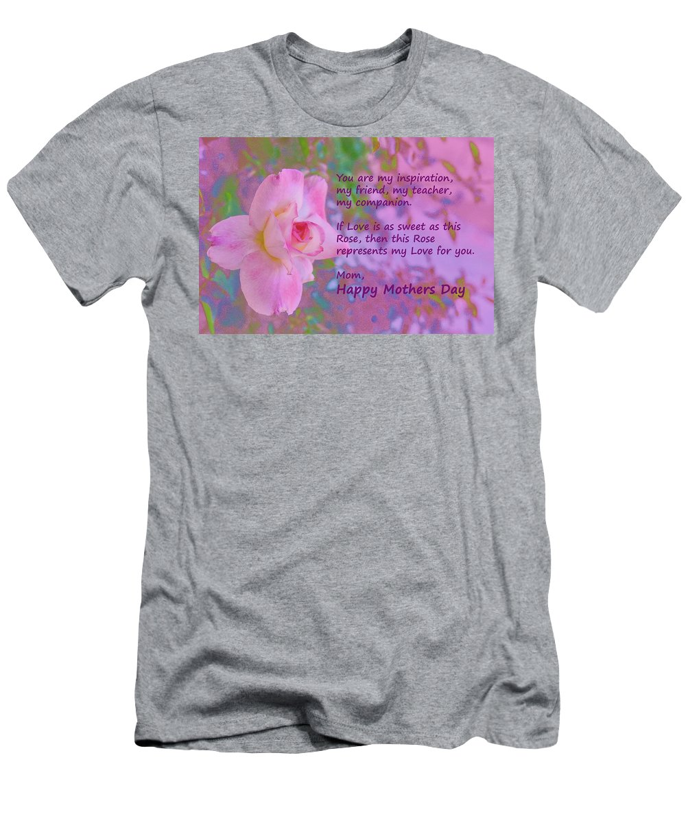 Linda Brody Men's T-Shirt (Athletic Fit) featuring the photograph Happy Mothers Day 2 by Linda Brody