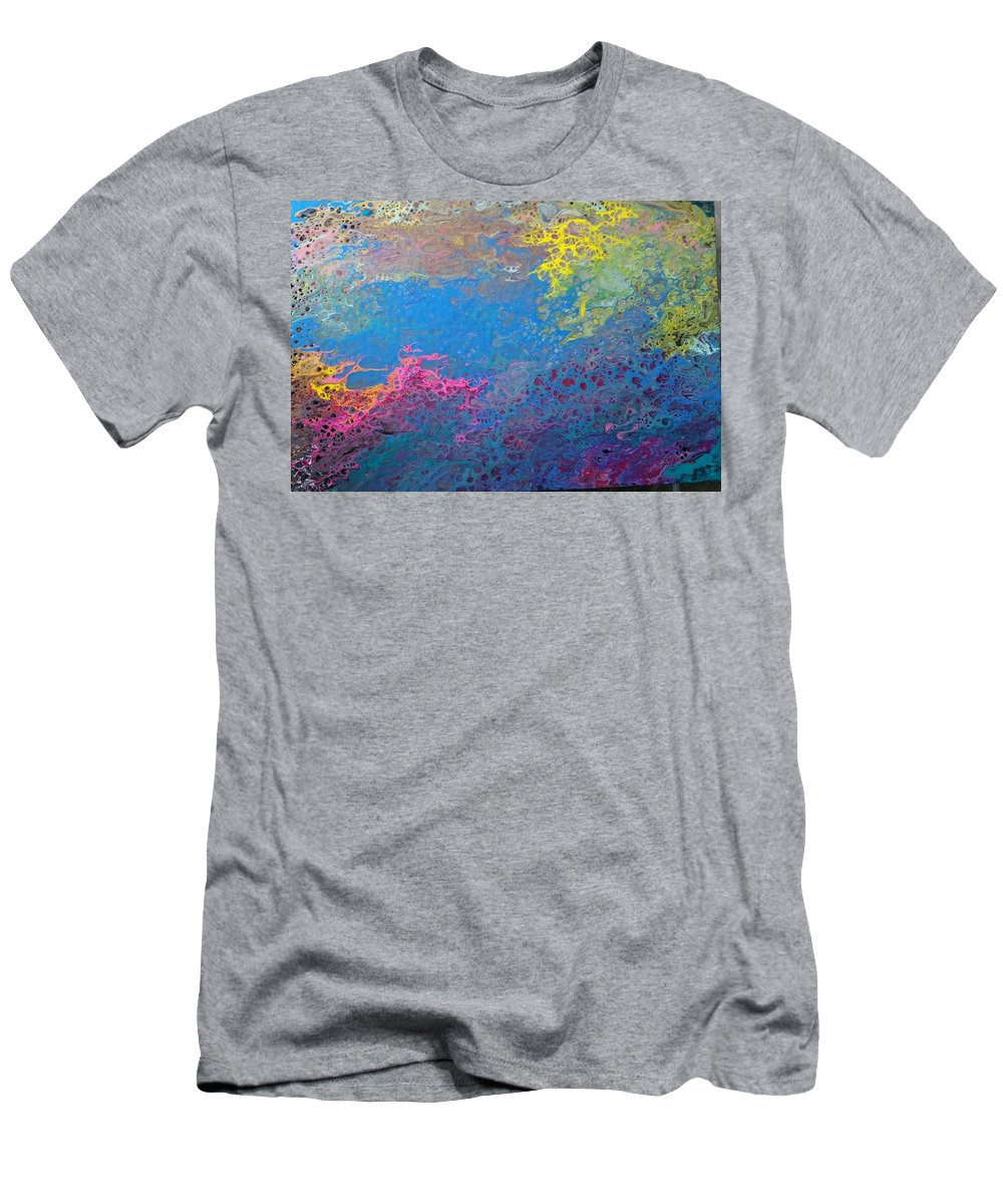 Colorful Abstract Happy T-Shirt featuring the painting Happy Spirit by Valerie Josi