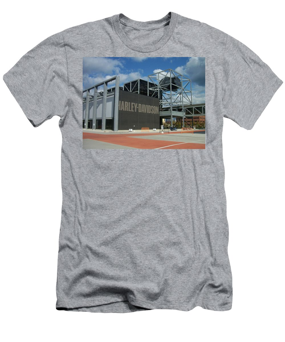Men's T-Shirt (Athletic Fit) featuring the photograph Harley Museum by Anita Burgermeister