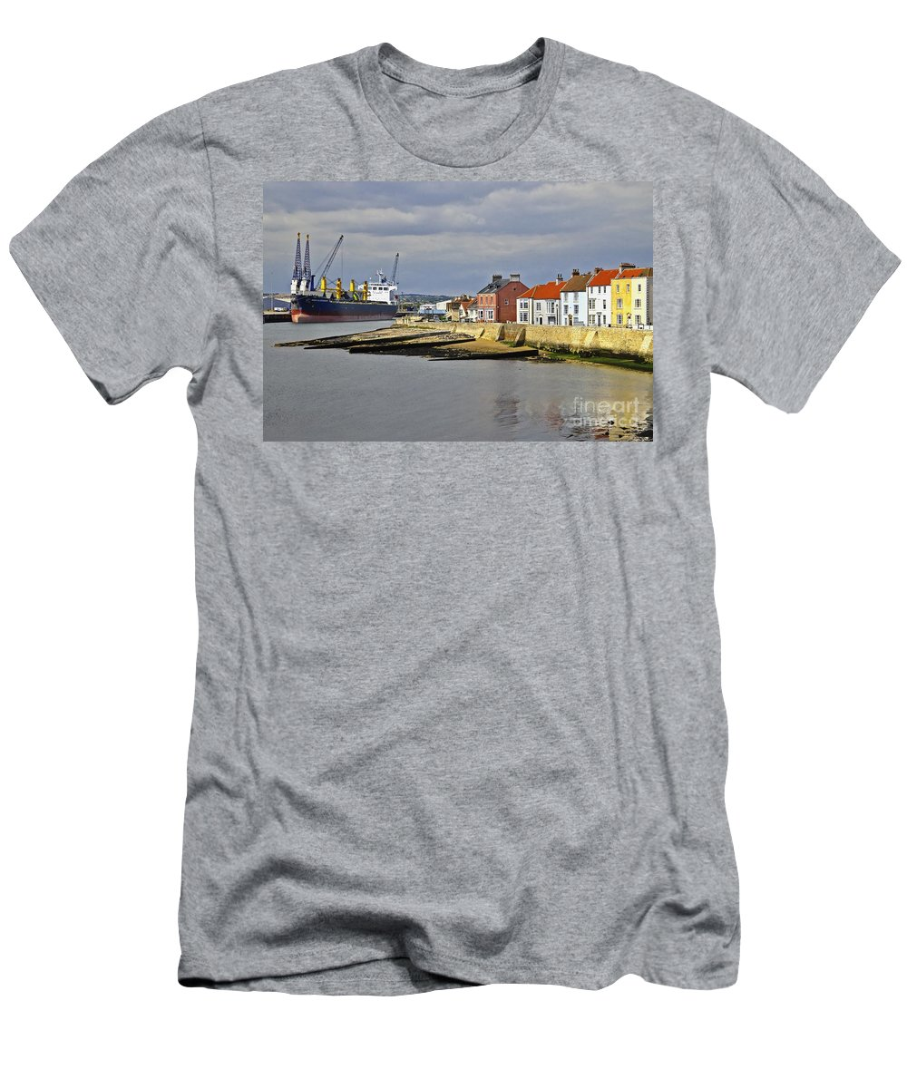Hartlepool Men's T-Shirt (Athletic Fit) featuring the photograph Hartlepool Harbour Evening by Martyn Arnold