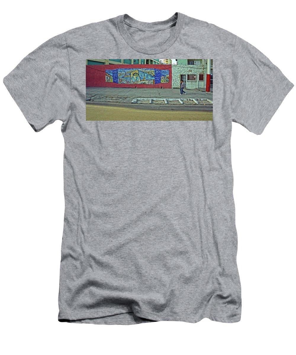Havana Men's T-Shirt (Athletic Fit) featuring the photograph Havana-46 by Rezzan Erguvan-Onal