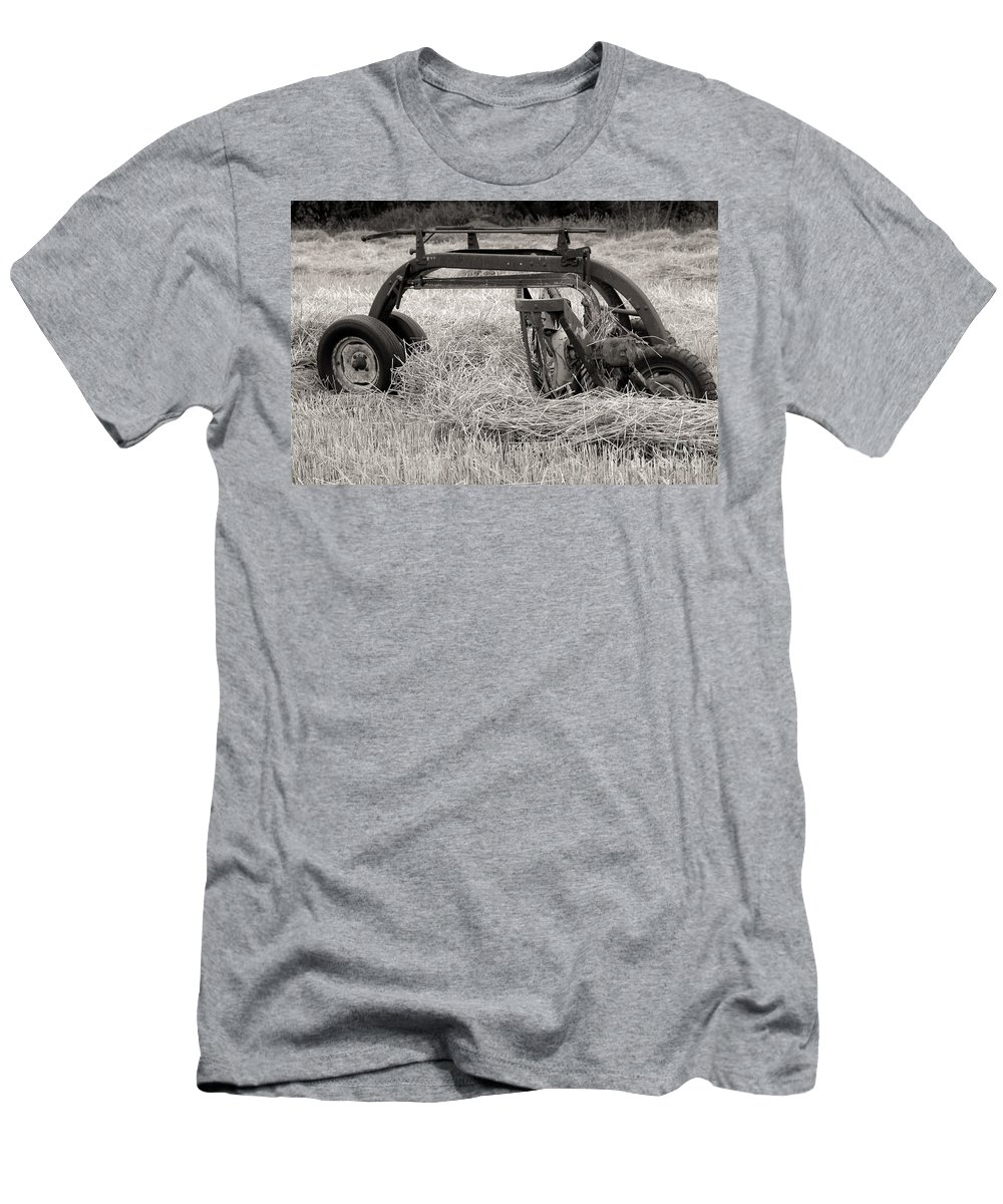 Hay Men's T-Shirt (Athletic Fit) featuring the photograph Hay Rake by Kathleen Struckle