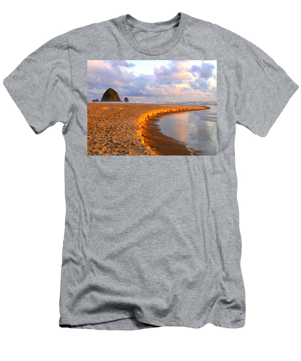 Haystack Heaven Men's T-Shirt (Athletic Fit) featuring the digital art Haystack Heaven by Will Borden