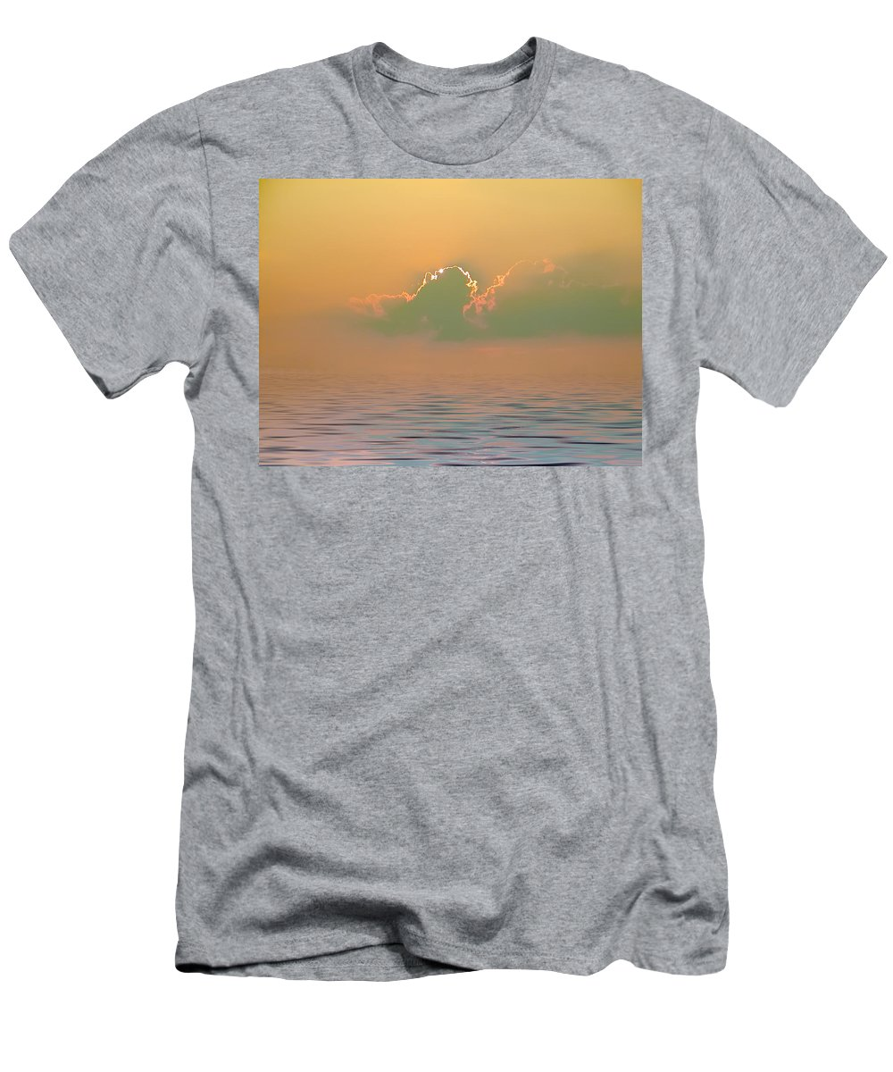 Sunset Men's T-Shirt (Athletic Fit) featuring the photograph Heavenly Sunset by Bill Cannon