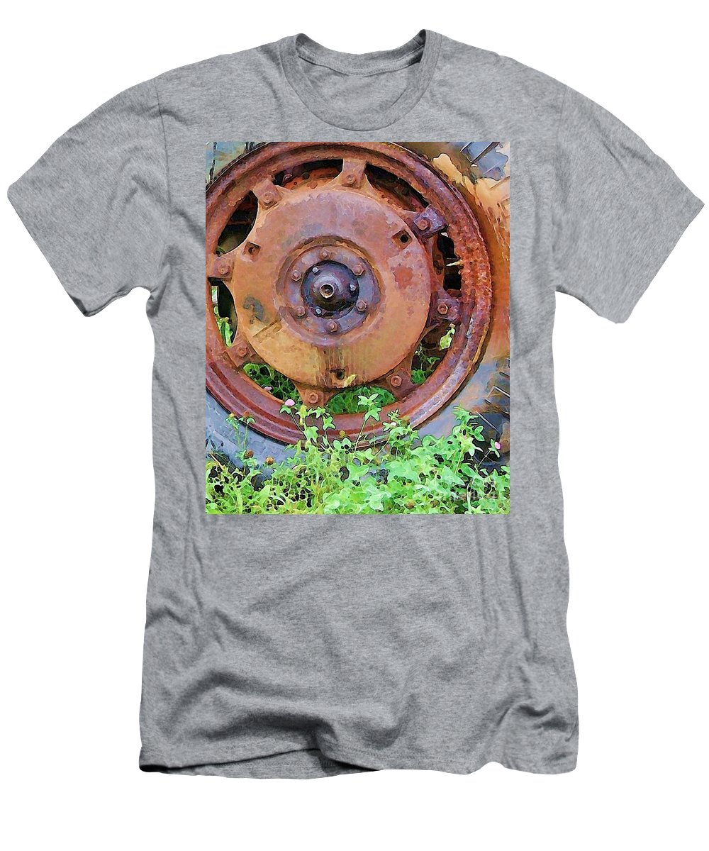 Rust Men's T-Shirt (Athletic Fit) featuring the photograph Heavy Metal by Debbi Granruth