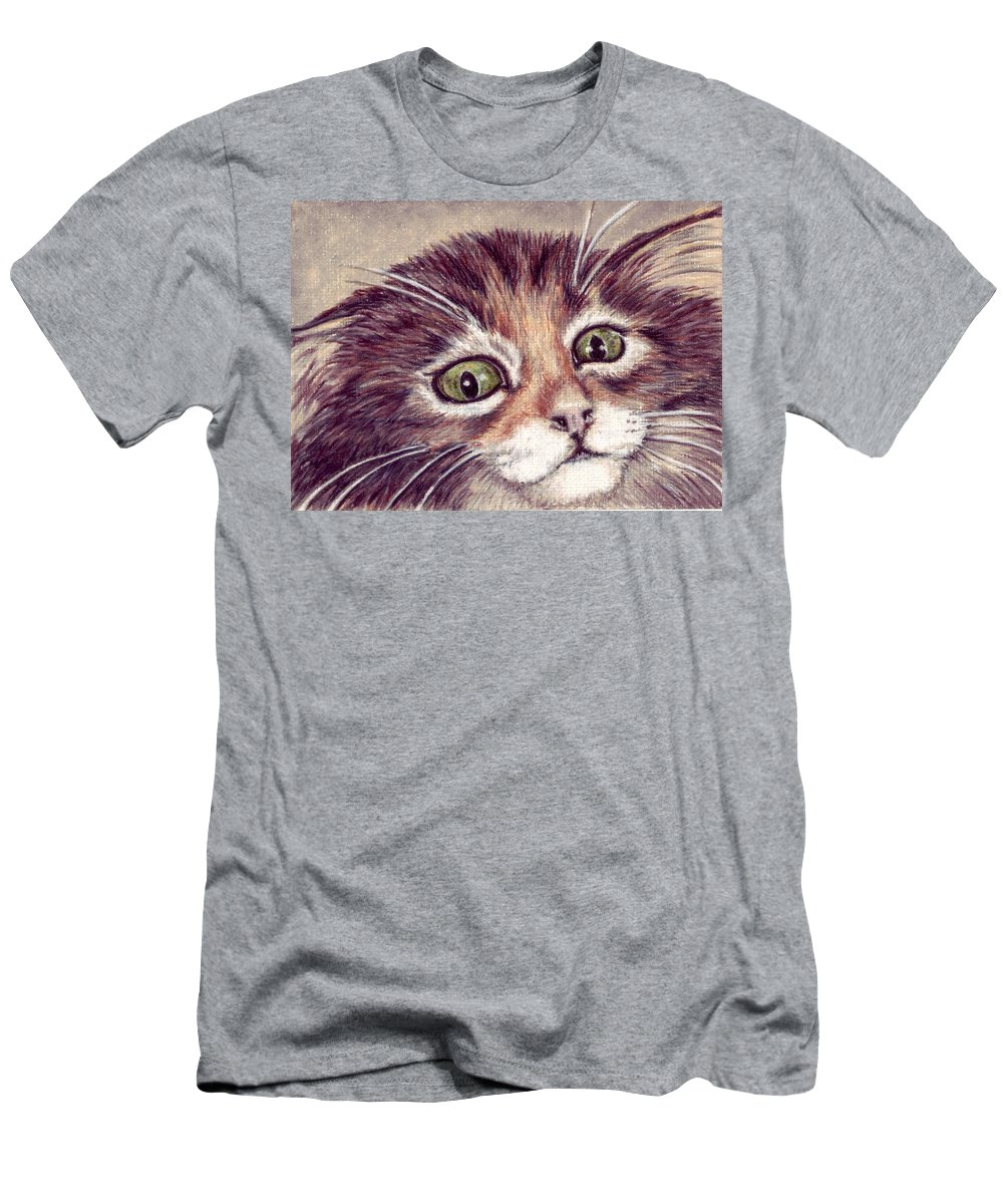 Cat Men's T-Shirt (Athletic Fit) featuring the drawing Hello Clarice by Kristen Wesch