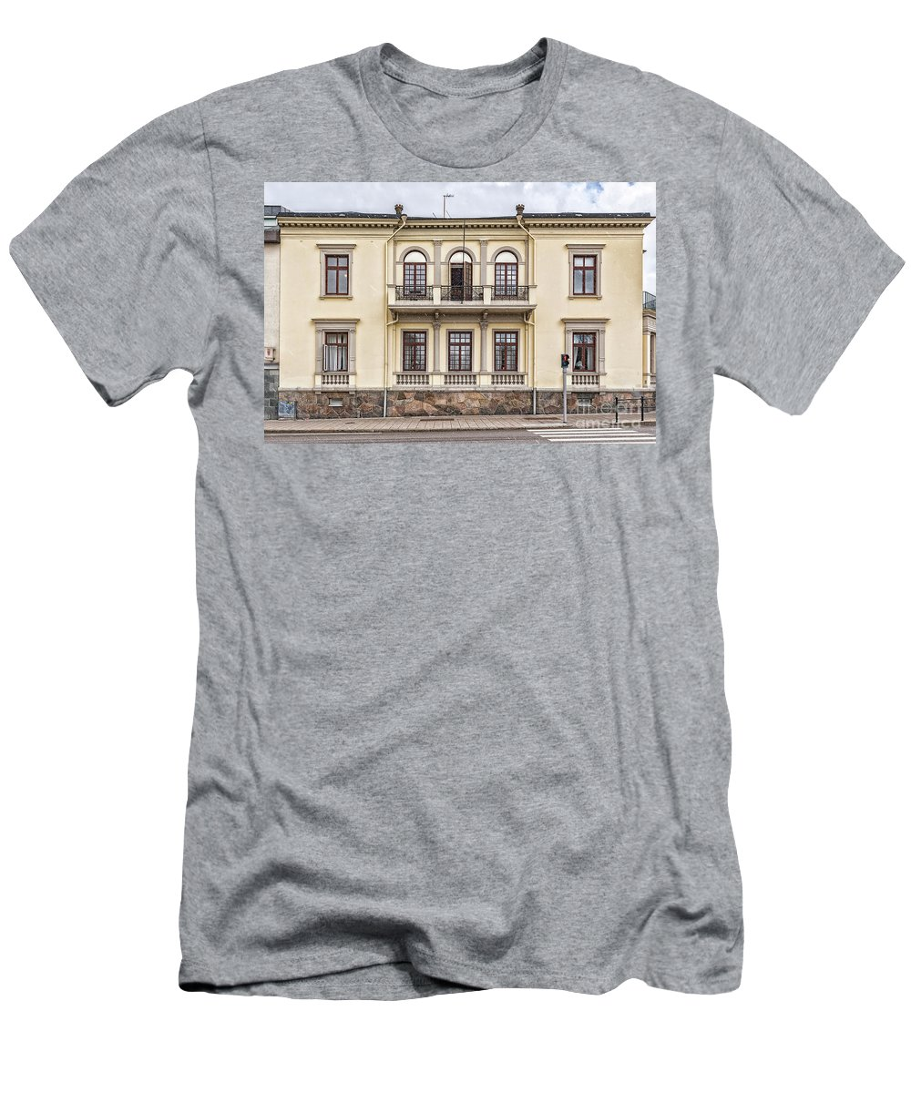 Travel Men's T-Shirt (Athletic Fit) featuring the photograph Helsingborg Old Building Facade by Antony McAulay