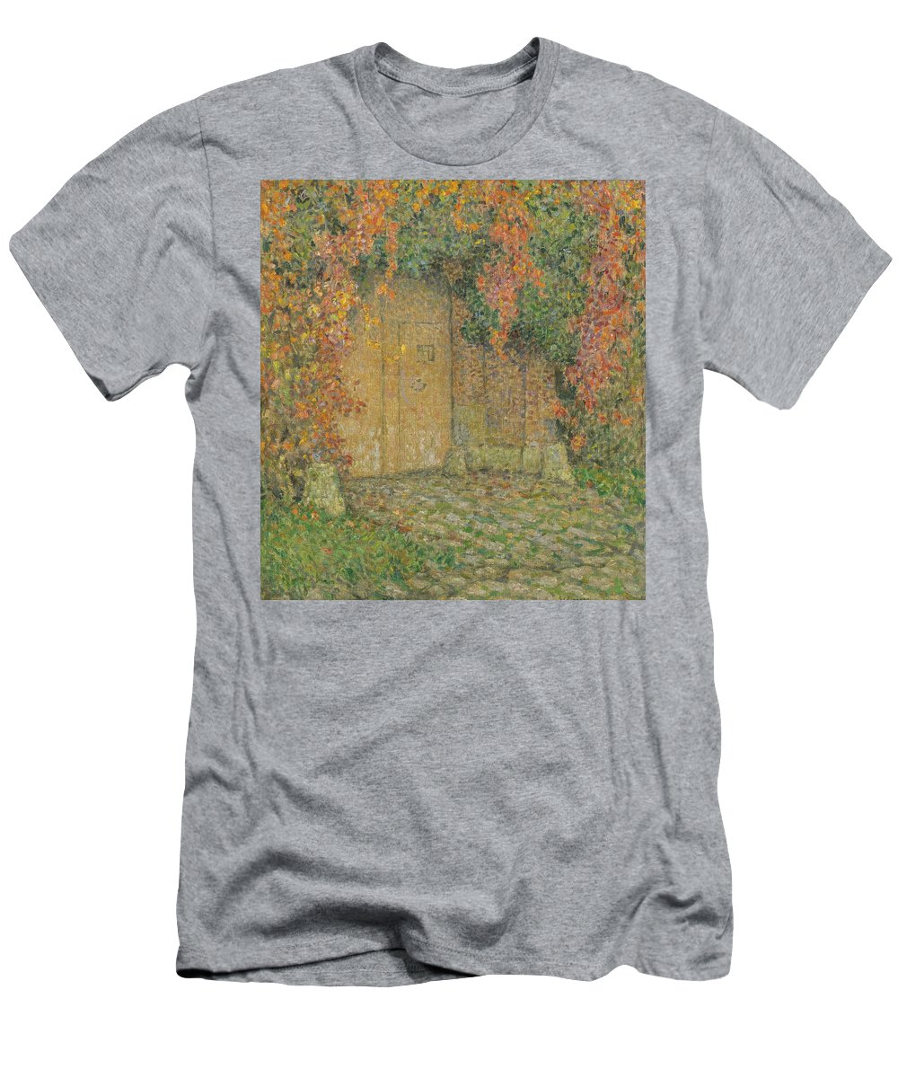 Le Portail Men's T-Shirt (Athletic Fit) featuring the painting Henri Le Sidaner by MotionAge Designs