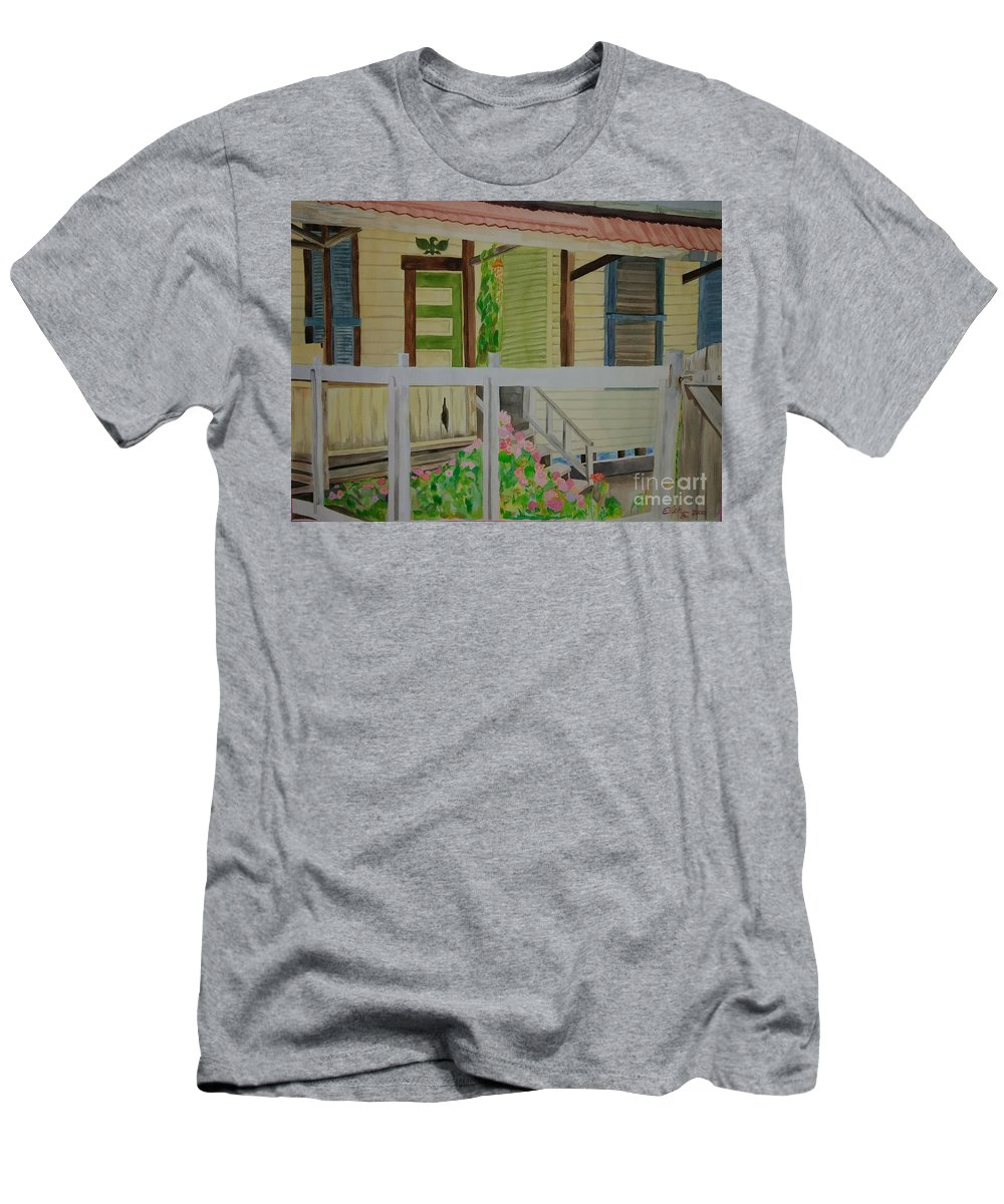 Wall Art Men's T-Shirt (Athletic Fit) featuring the painting Her Garden by E Buchanan
