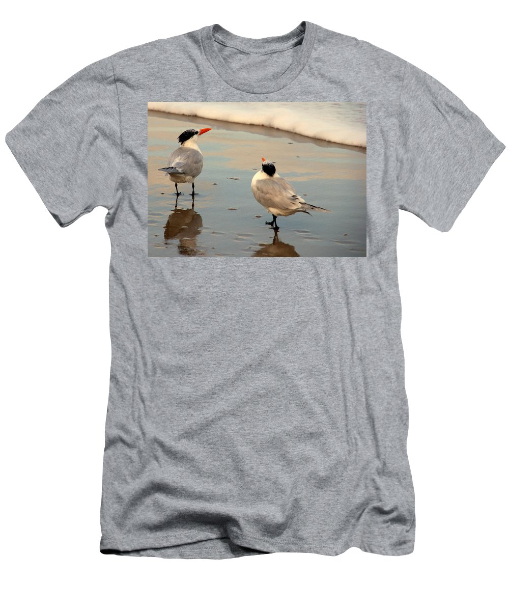 Wildlife Men's T-Shirt (Athletic Fit) featuring the photograph Her New Boyfriend by Susanne Van Hulst