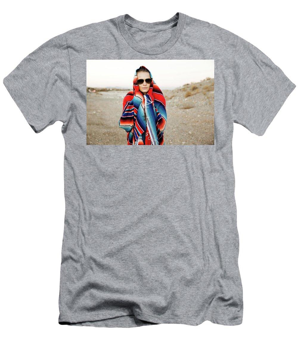 Evgeniya Lystsova Men's T-Shirt (Athletic Fit) featuring the photograph Hipster Traveler by Evgeniya Lystsova