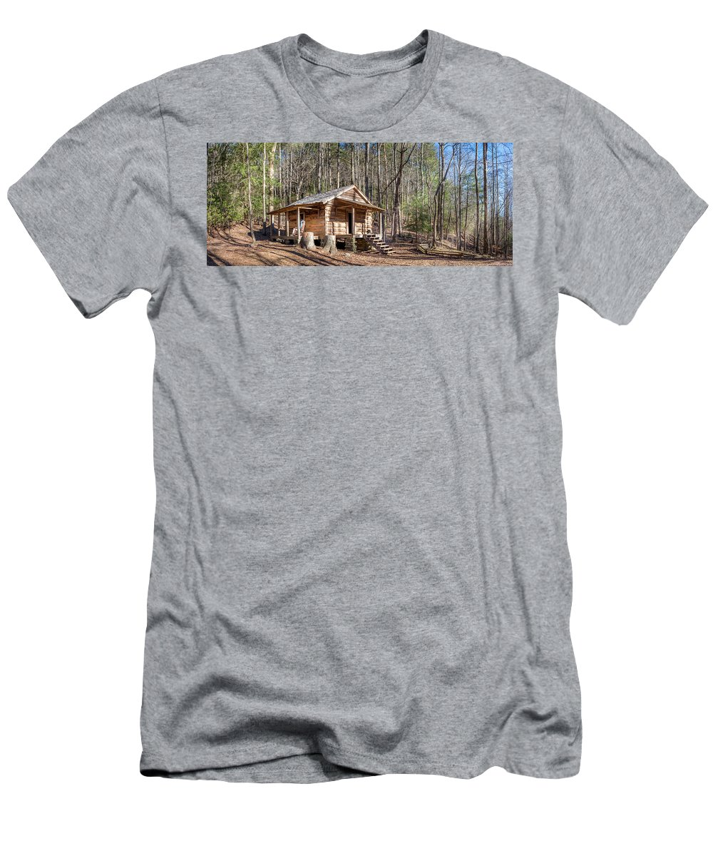 Historic Men's T-Shirt (Athletic Fit) featuring the photograph Historic Cabin by Alexander Mayr
