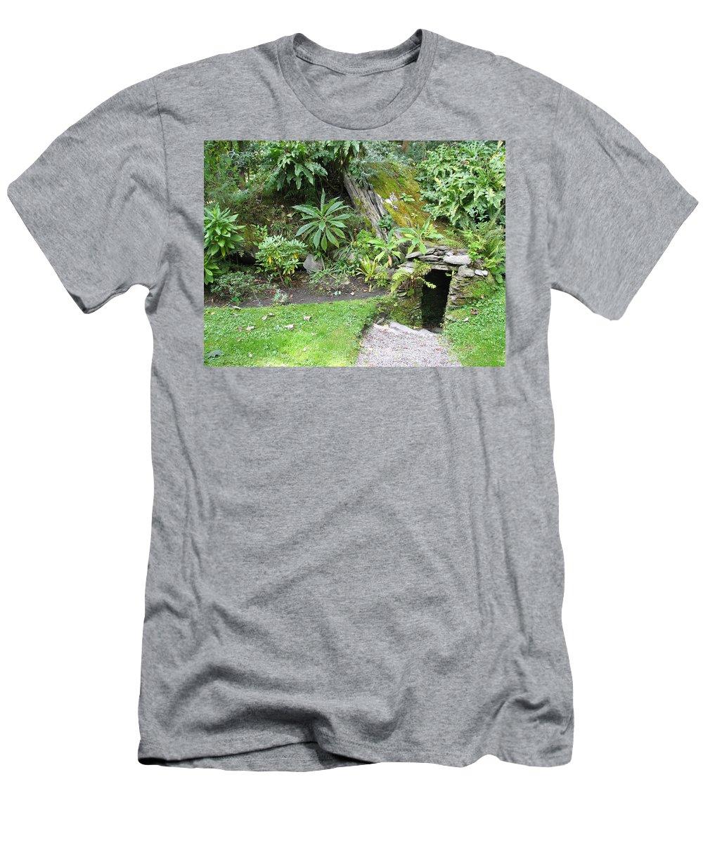 Hobbit Men's T-Shirt (Athletic Fit) featuring the photograph Hobbit Home by Kelly Mezzapelle