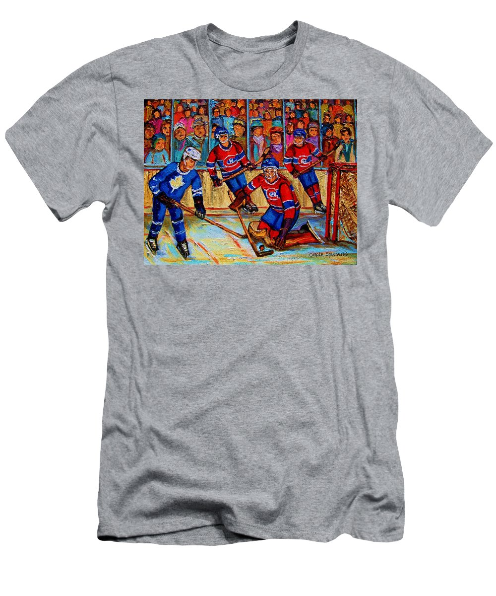 Hockey Men's T-Shirt (Athletic Fit) featuring the painting Hockey Hero by Carole Spandau