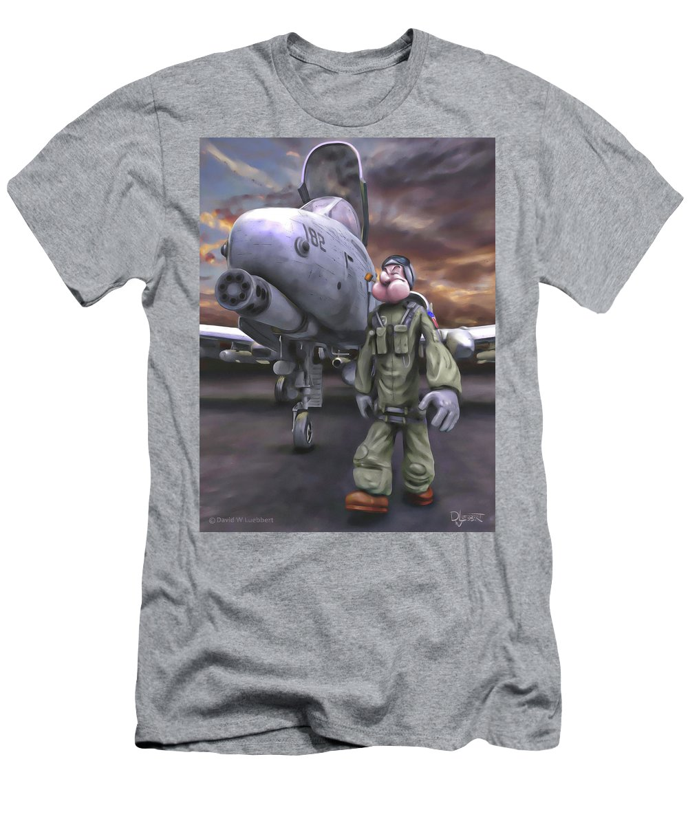 A-10 Men's T-Shirt (Athletic Fit) featuring the painting Hogman by Dave Luebbert