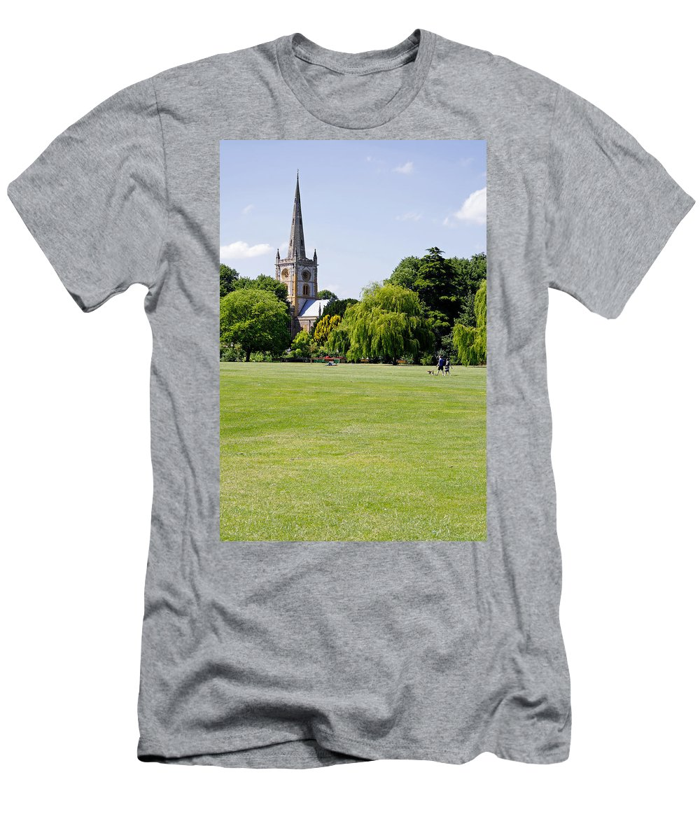Europe Men's T-Shirt (Athletic Fit) featuring the photograph Holy Trinity Church At Stratford Upon Avon by Rod Johnson