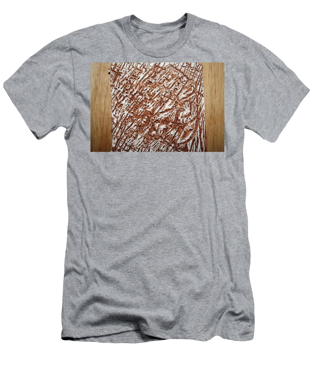 Jesus Men's T-Shirt (Athletic Fit) featuring the ceramic art Horror - Tile by Gloria Ssali