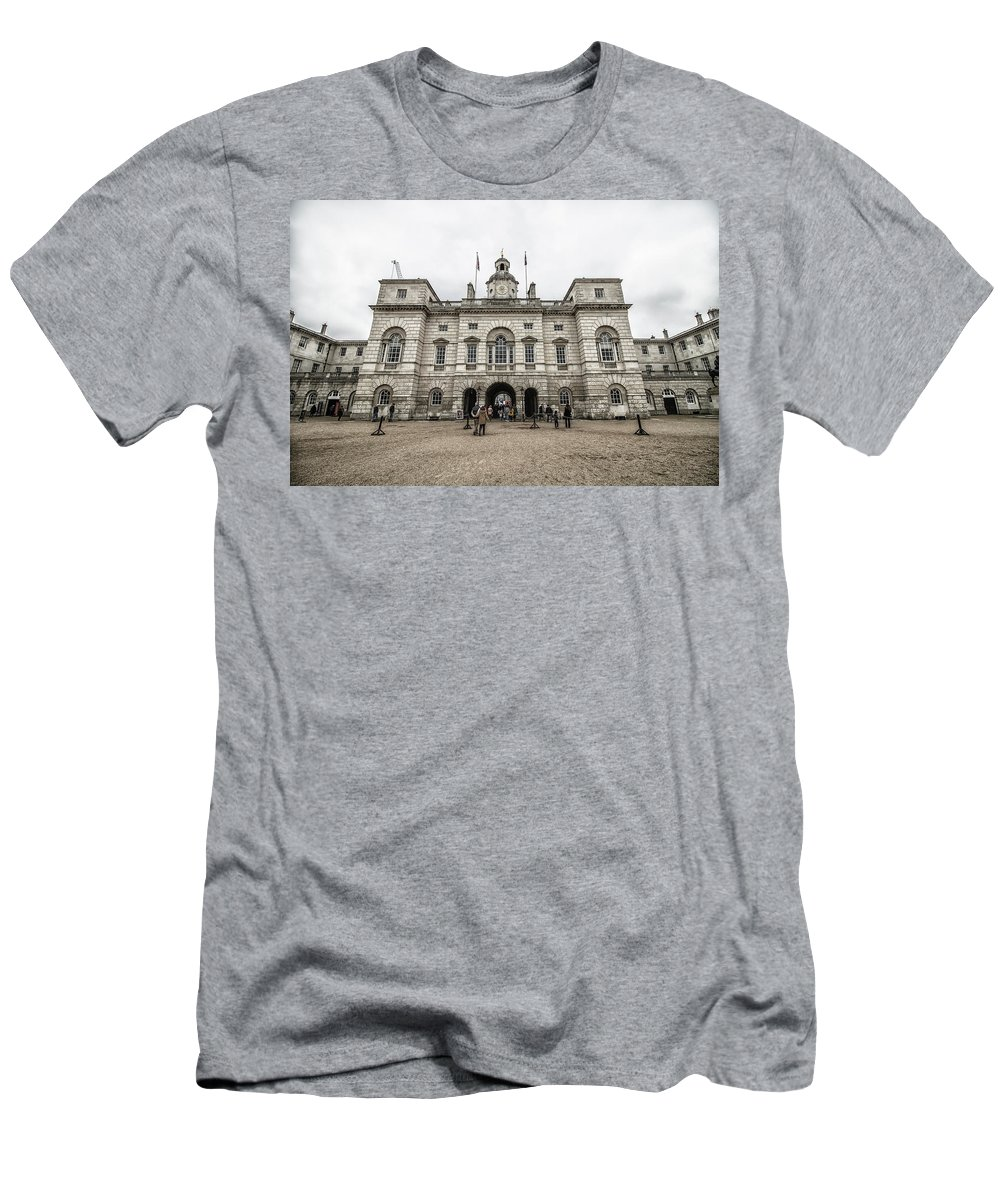 Horse Men's T-Shirt (Athletic Fit) featuring the photograph Horse Guards by Martin Newman