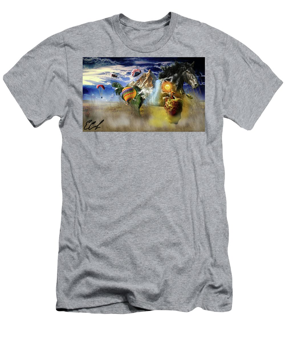 Horse T-Shirt featuring the digital art Horse Mountain by Edward Cormier Jr