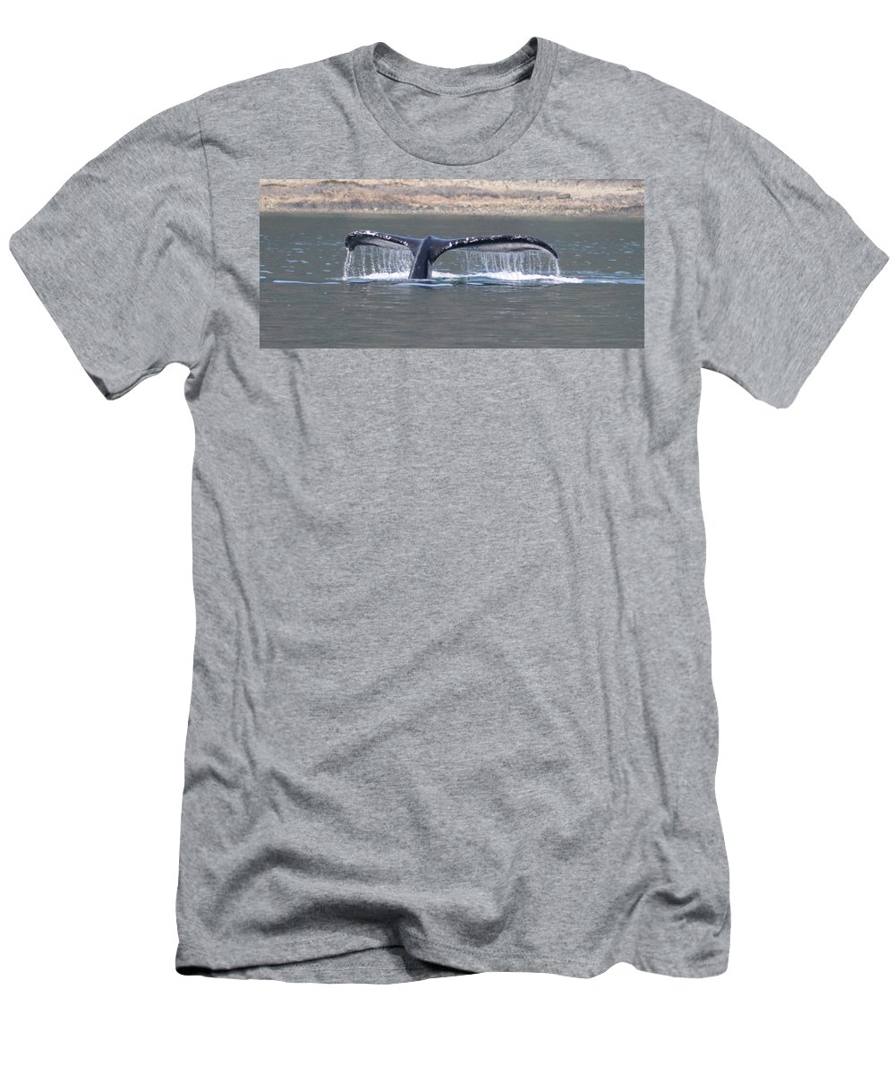 Humpback Men's T-Shirt (Athletic Fit) featuring the photograph Humpback Whale Fluke by John Hughes