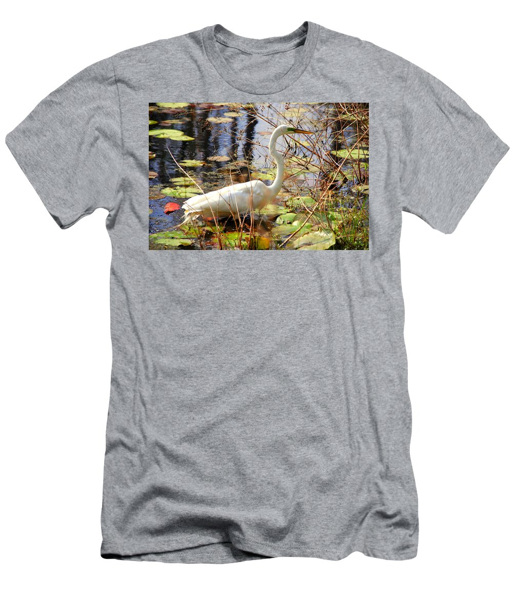 Photography Men's T-Shirt (Athletic Fit) featuring the photograph Hunting For Food by Susanne Van Hulst