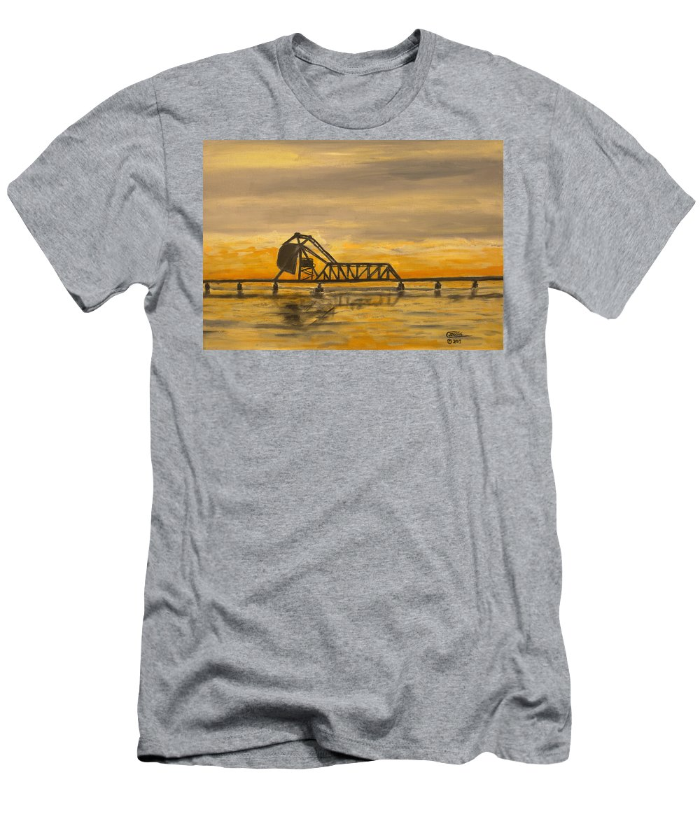 Railroad T-Shirt featuring the painting HX Draw by Christopher Jenkins