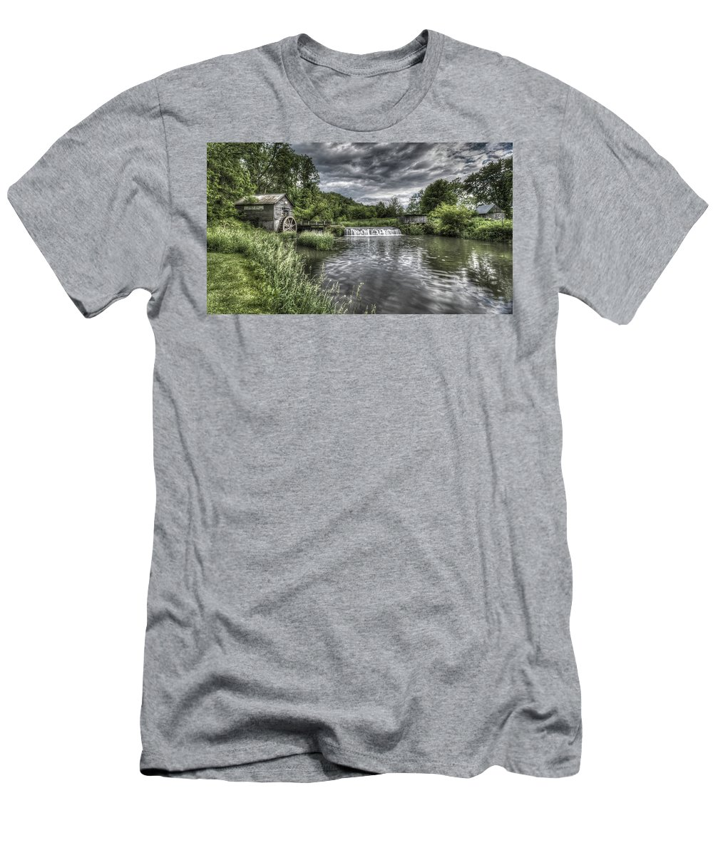 Mill Men's T-Shirt (Athletic Fit) featuring the photograph Hyde's Mill by Brad Bellisle