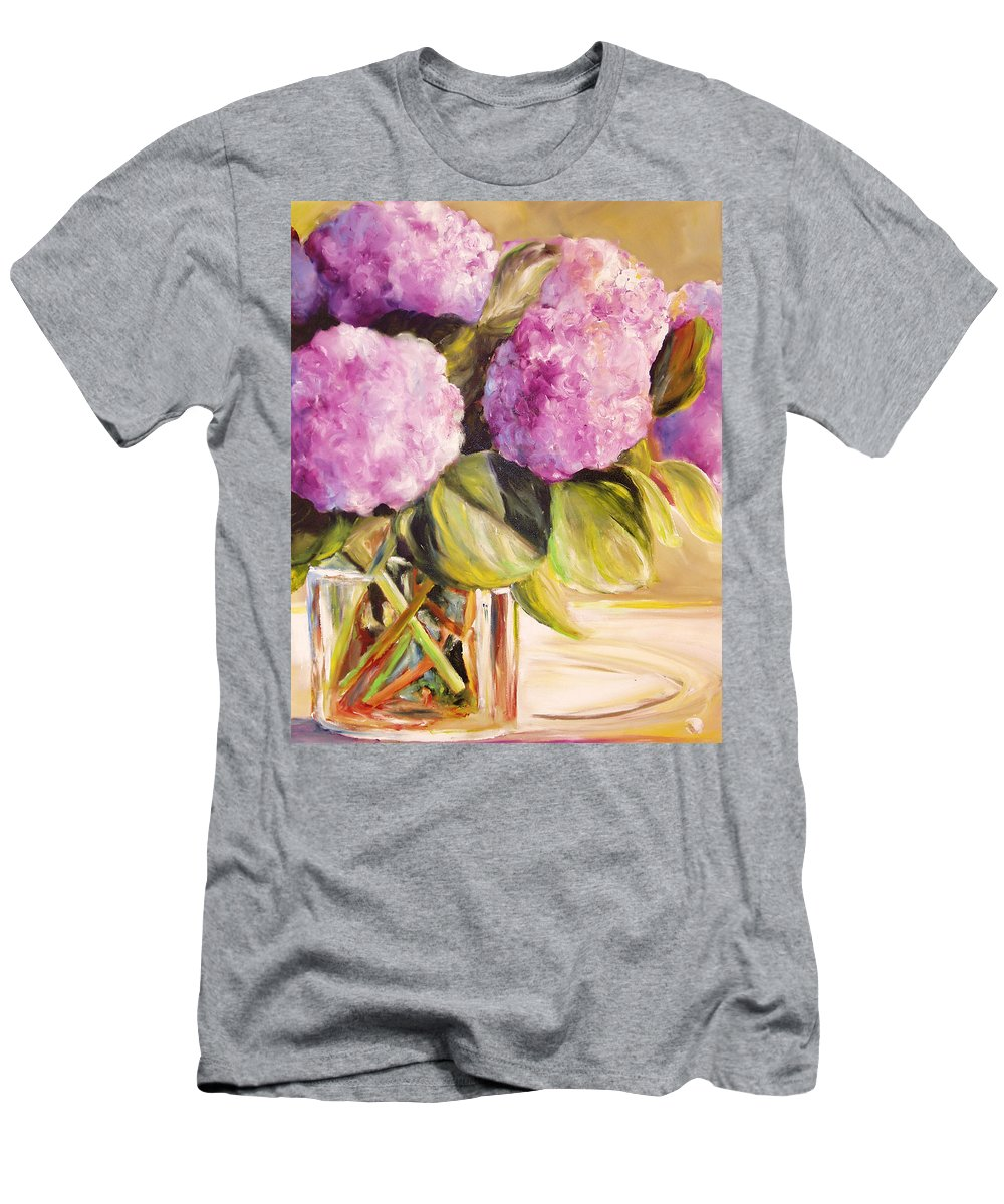 Hydrangea Men's T-Shirt (Athletic Fit) featuring the painting Hydrangea Heaven by Toni Grote