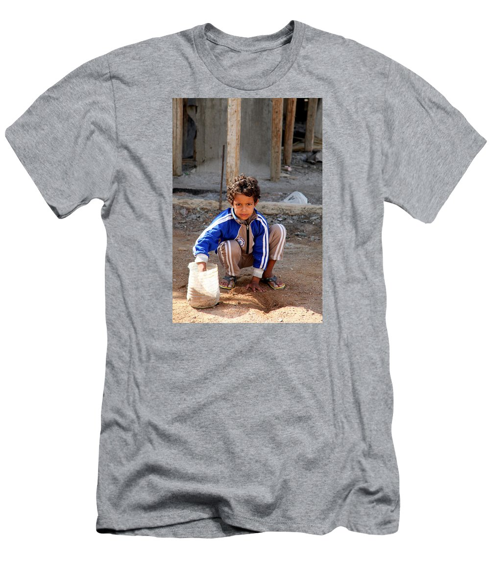 Hurghada Men's T-Shirt (Athletic Fit) featuring the photograph I Am Doing Something by Jez C Self