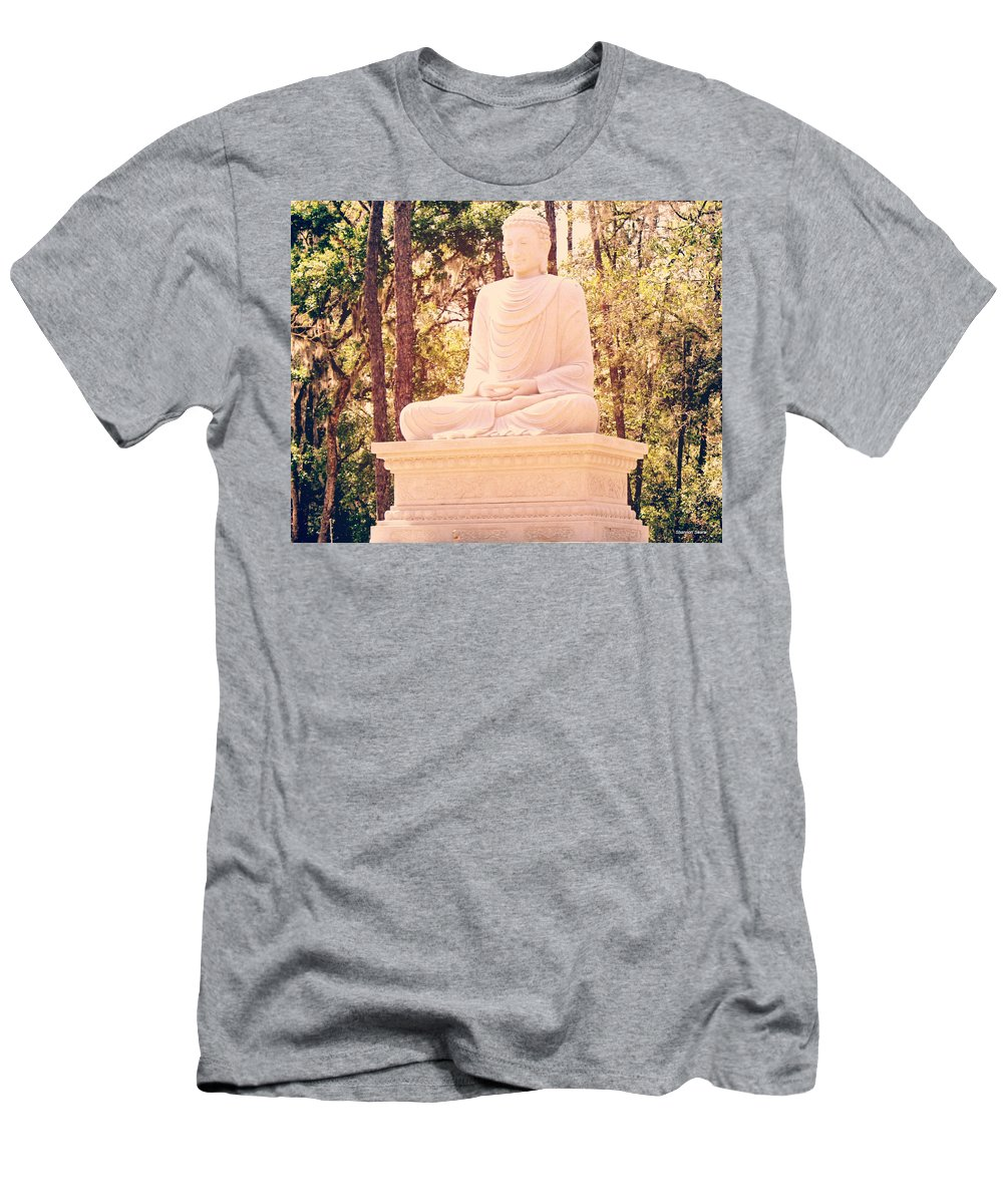 Shannon Men's T-Shirt (Athletic Fit) featuring the photograph I Shall Listen And Offer by Shannon Sears
