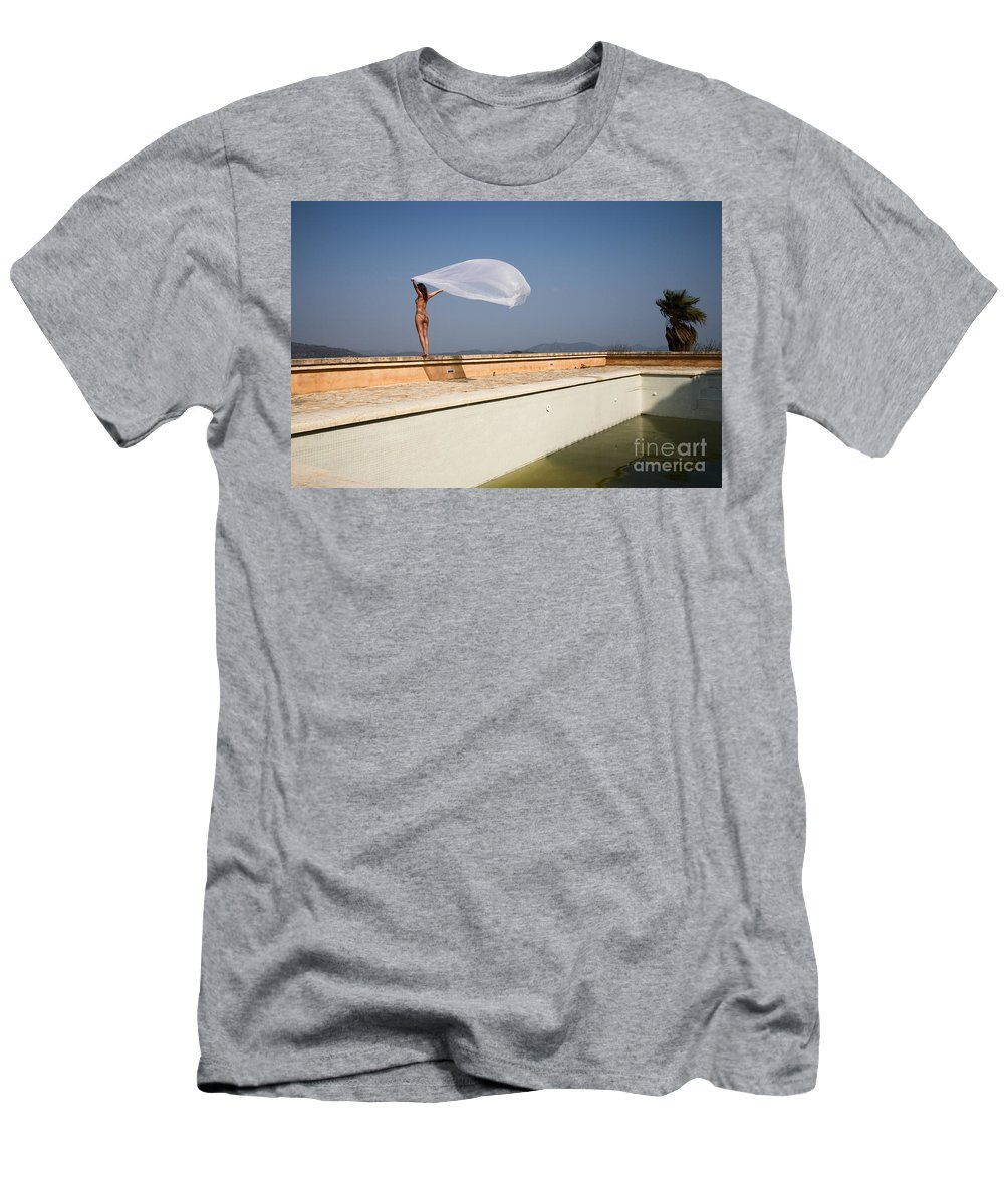 Sensual Men's T-Shirt (Athletic Fit) featuring the photograph I Will Fly To You by Olivier De Rycke