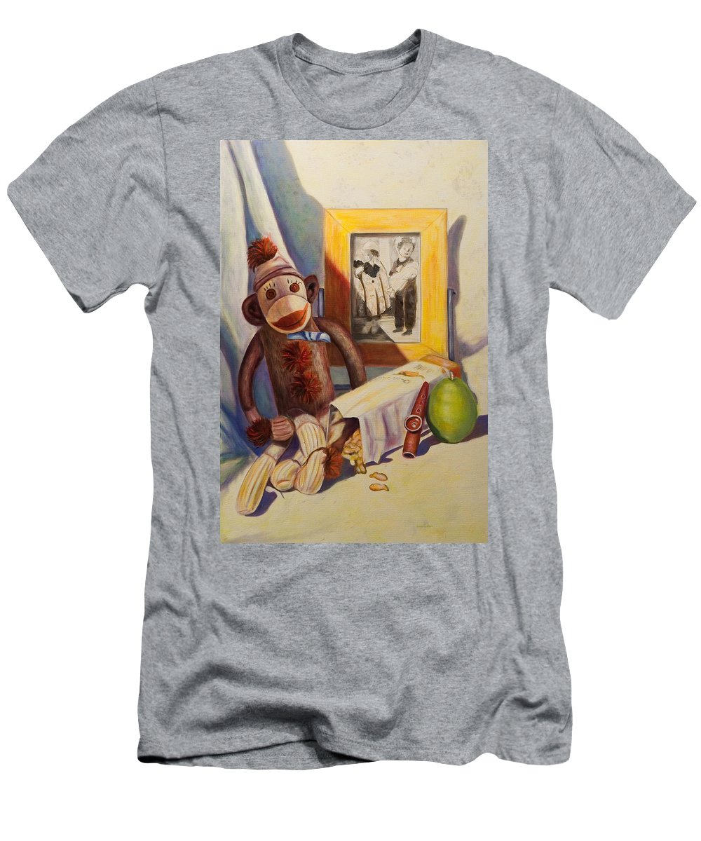 Children Men's T-Shirt (Athletic Fit) featuring the painting I Will Remember You by Shannon Grissom