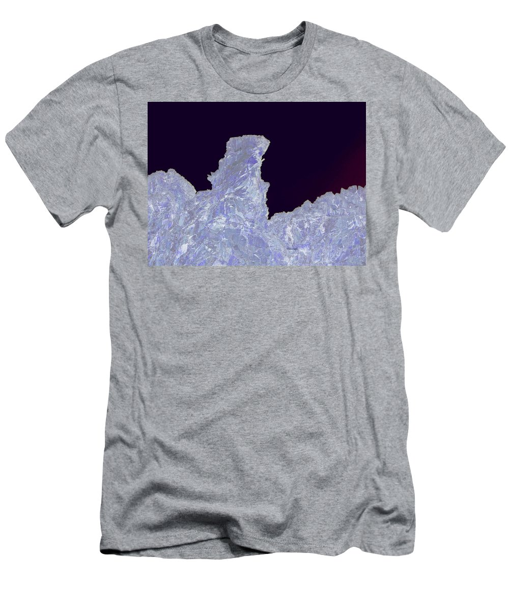 Abstract Men's T-Shirt (Athletic Fit) featuring the photograph Ice Cliff by Jeff Swan