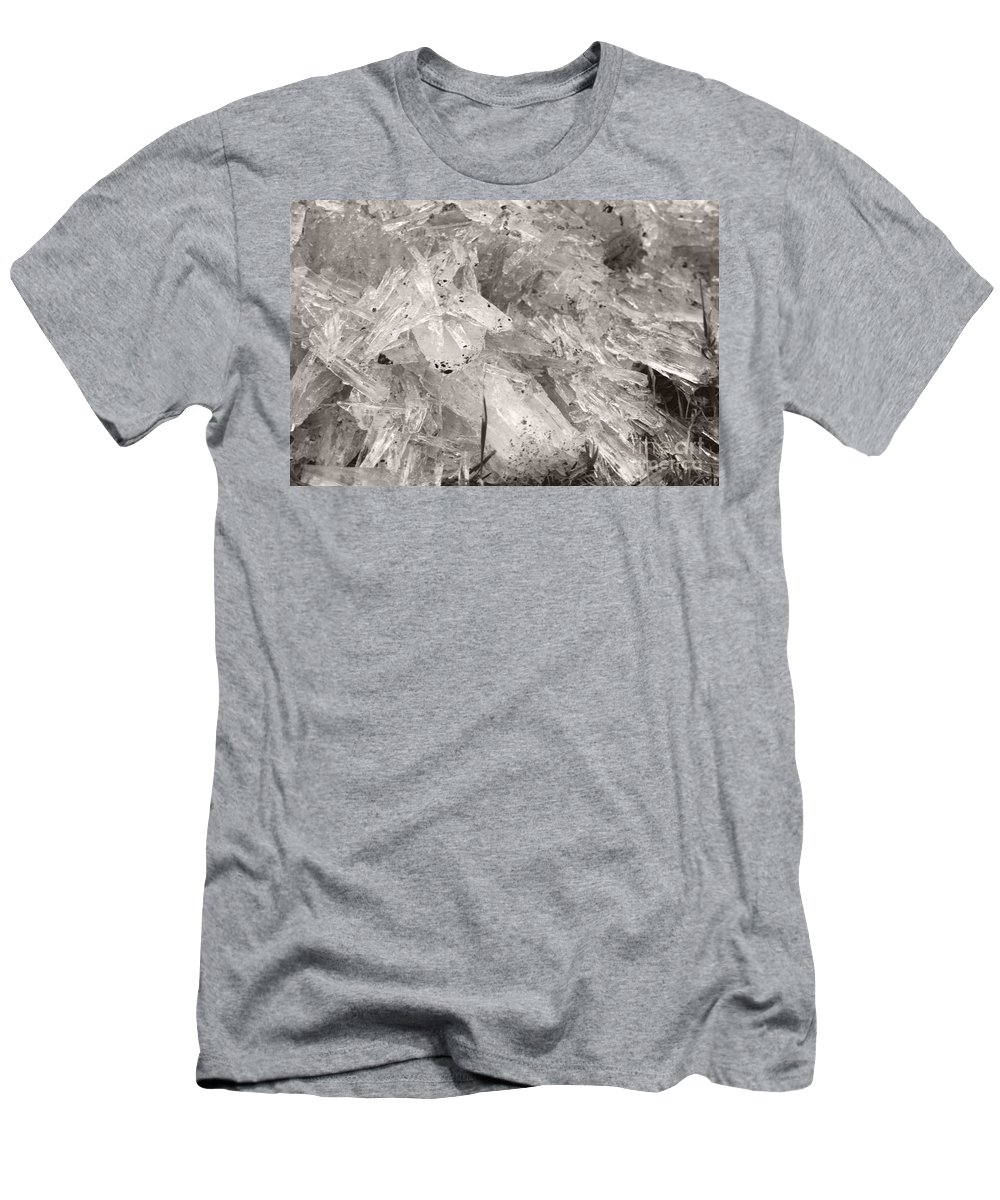 Men's T-Shirt (Athletic Fit) featuring the photograph Ice Crystals by Heather Kirk