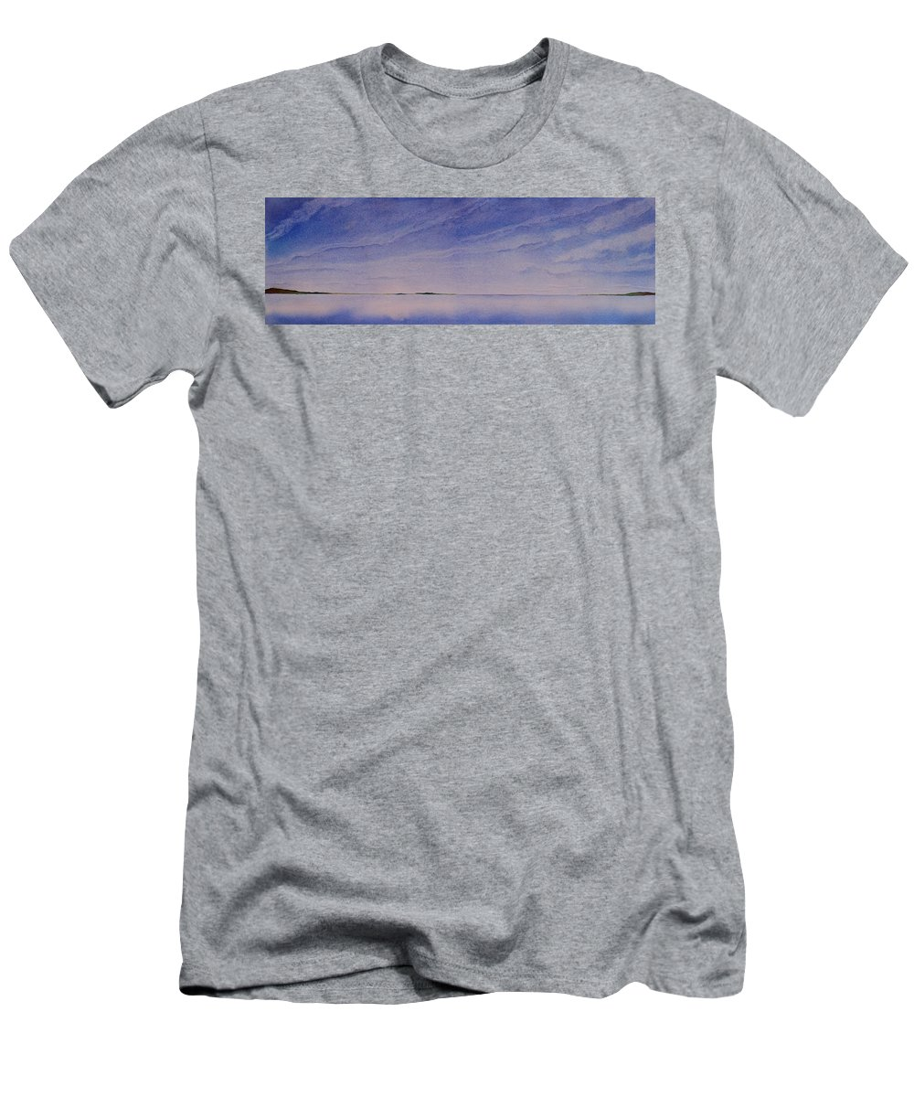 Landscape Men's T-Shirt (Athletic Fit) featuring the painting Ice Lake by Ruth Kamenev