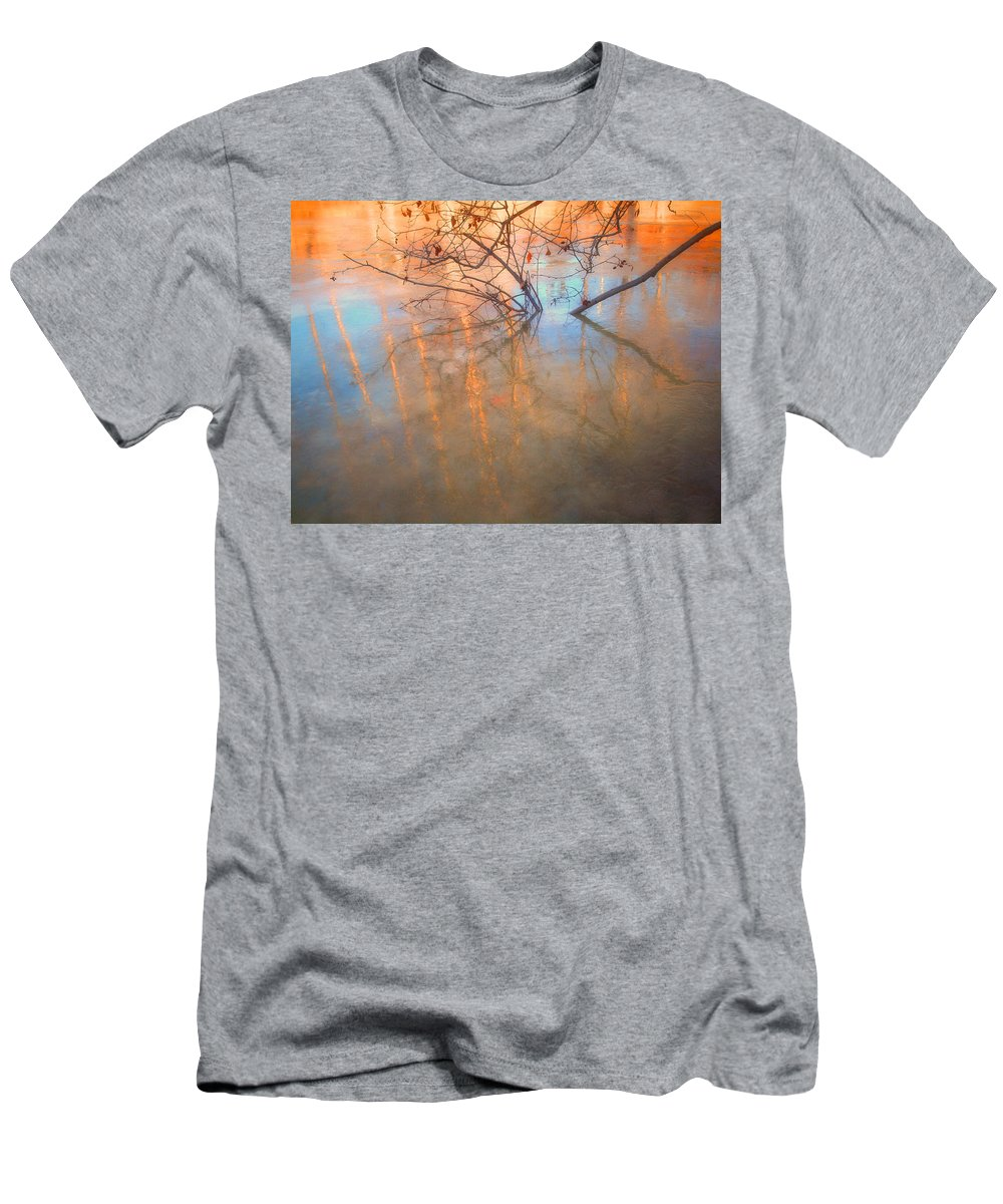 Ice T-Shirt featuring the photograph Ice Reflections 2 by Tara Turner