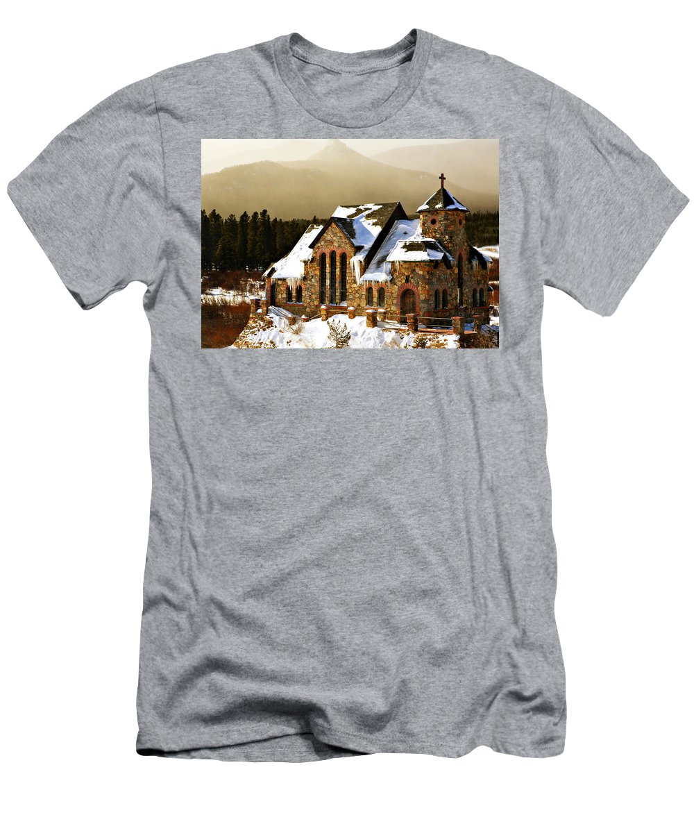 Americana Men's T-Shirt (Athletic Fit) featuring the photograph Icicles by Marilyn Hunt