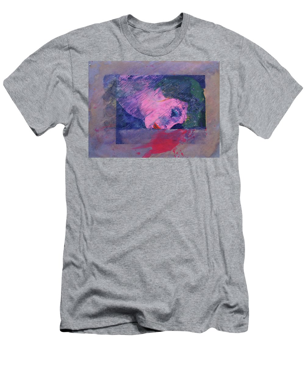 Psycho Men's T-Shirt (Athletic Fit) featuring the painting Iconoclasm 2 by Charles Stuart