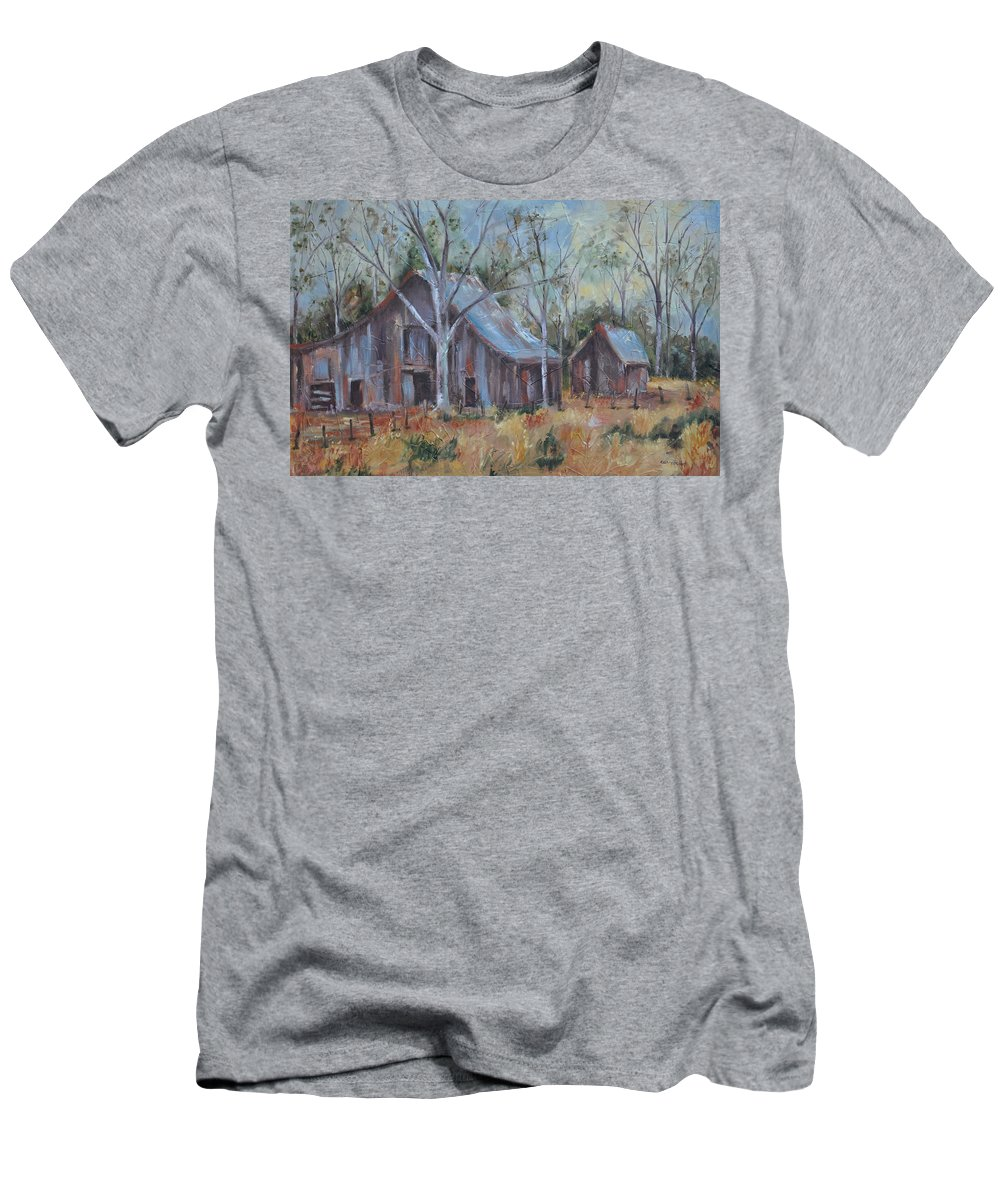 Barns Men's T-Shirt (Athletic Fit) featuring the painting If They Could Speak by Ginger Concepcion